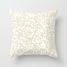 Small Spots - White and Pearl Brown Throw Pillow