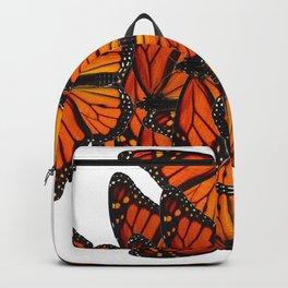 ORNATE PATTERN OF ORANGE MONARCH BUTTERFLIES ART Backpack