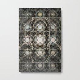 Jula Grid Metal Print