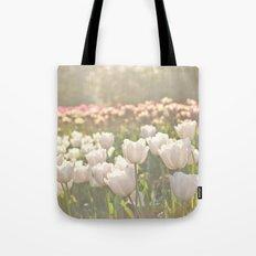 Tulips sunbathed Tote Bag
