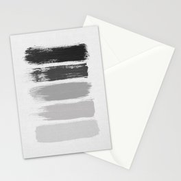 Black & White Stripes Stationery Cards