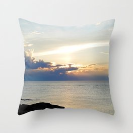 Seascape on the Saint-Lawrence Throw Pillow