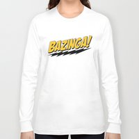 bazinga Long Sleeve T-shirts featuring Bazinga by Maxx Hendriks