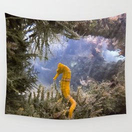 Seahorse Window Wall Tapestry