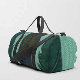 Mint green and feathers Duffle Bag