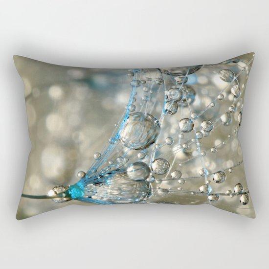 Cyan & Gold Rectangular Pillow