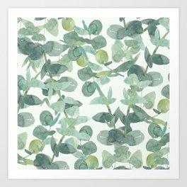 Green Leaf Plant Vines Art Print