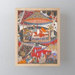 16th Century India Watercolor Painting Framed Mini Art Print