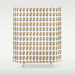 Zombie Lid Shower Curtain