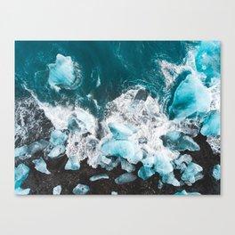 Diamond Beach, Iceland v2 Canvas Print