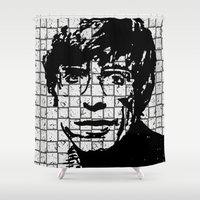 stephen king Shower Curtains featuring Stephen Hawking by Silvio Ledbetter