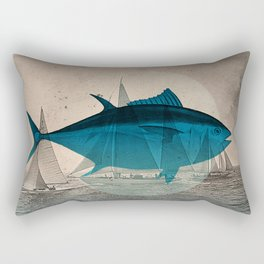 Northern Bluefin Rectangular Pillow