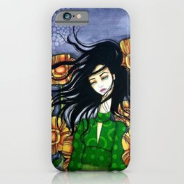 Original Mixed Media by Jenny Manno iPhone Case