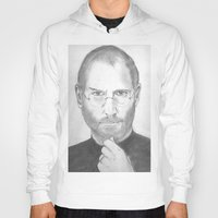 steve jobs Hoodies featuring Steve Jobs by Feroz Bukht