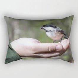 A bird in the hand Rectangular Pillow