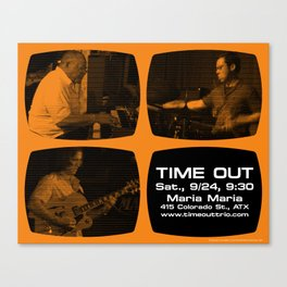 TIME OUT, MARIA MARIA (4, ORANGE) - AUSTIN, TX Canvas Print