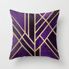 Art Deco Royal Throw Pillow