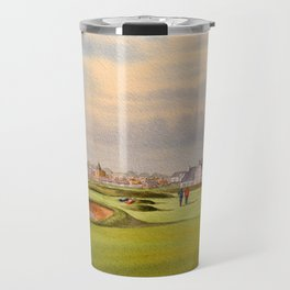 Carnoustie Golf Course Scotland With Clubhouse Travel Mug