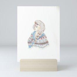 Tribal Braids Mini Art Print