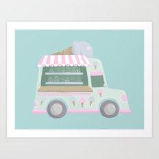 Ice Cream Truck Art Print