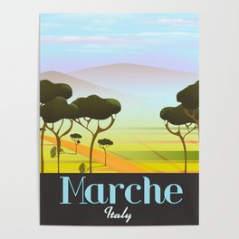Marche Italy travel poster Poster
