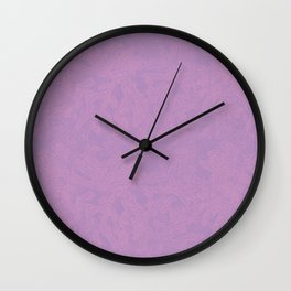 Pink leaf pattern Wall Clock