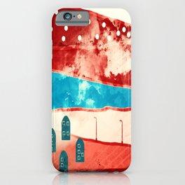 Red landscape iPhone Case