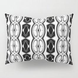 Dividing Cells Black and White Pattern Pillow Sham