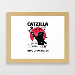 Catzilla Framed Art Print