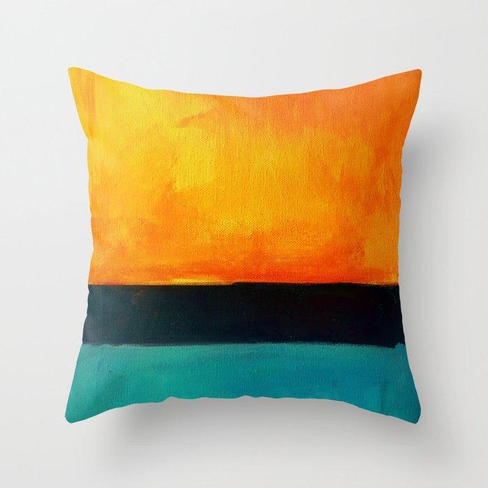 Mark Rothko Interpretation Orange Blue Throw Pillow By Jamespeart
