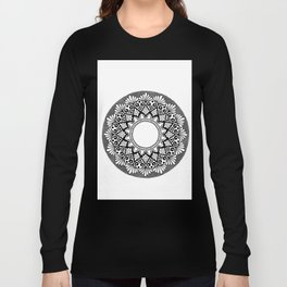 Mandala B&W Long Sleeve T-shirt