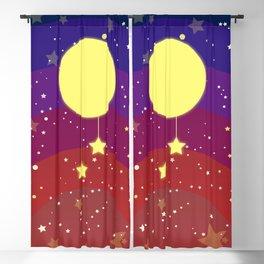 Moon (sun) with stars Blackout Curtain