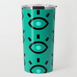 Eyes green Travel Mug