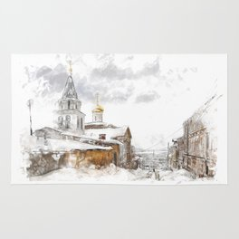 Russian landscape Rug