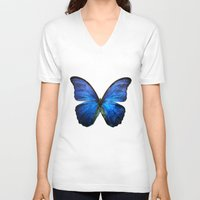 butterfly V-neck T-shirts featuring butterfly  by mark ashkenazi