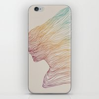 huebucket iPhone & iPod Skins featuring FADE by Huebucket
