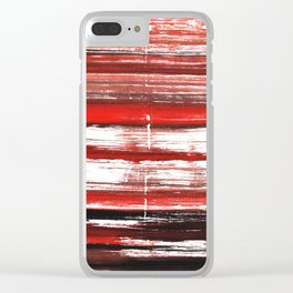 Red-black abstract Clear iPhone Case