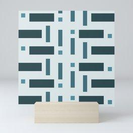 Pattern of Squares in Blue Mini Art Print
