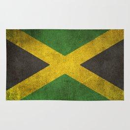 Old and Worn Distressed Vintage Flag of Jamaica Rug