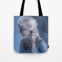 elsa Tote Bags featuring Elsa by LindaMarieAnson