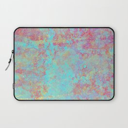 Abstract Painting - Textured cyan and purple Laptop Sleeve