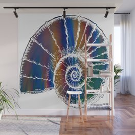The Nautilus Shell Transparent 2 Wall Mural