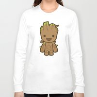 starlord Long Sleeve T-shirts featuring Tree by Papyroo
