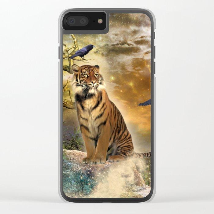 Wonderful tiger Clear iPhone Case