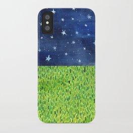 Grass & Stars iPhone Case