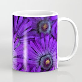 Purple succulent flowers watercolor effect Coffee Mug