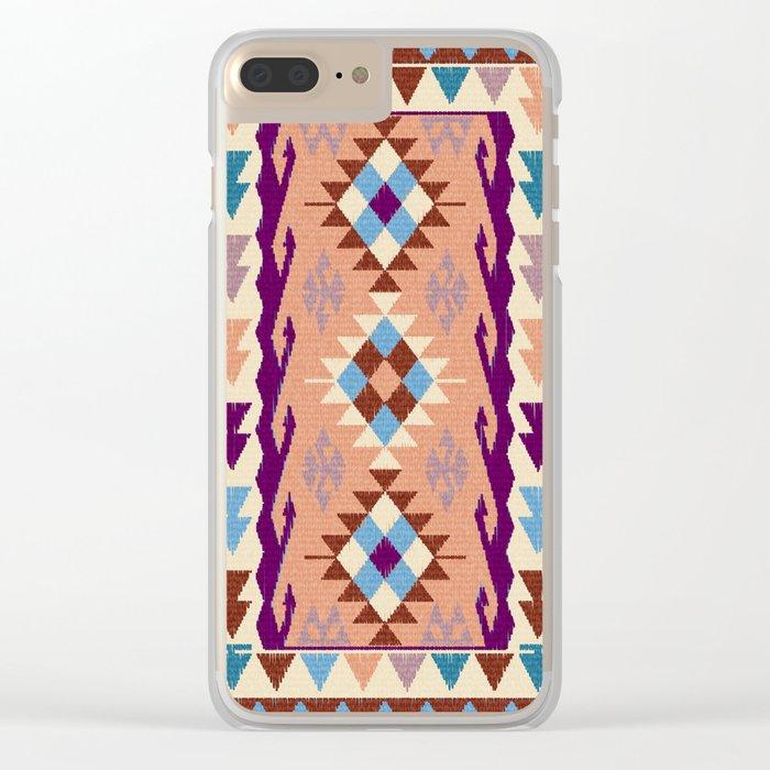 Kilim Rug Clear iPhone Case