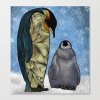 baby Canvas Prints featuring Emperor Penguins by Ben Geiger