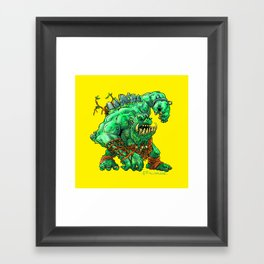 Straight Trollin' Framed Art Print