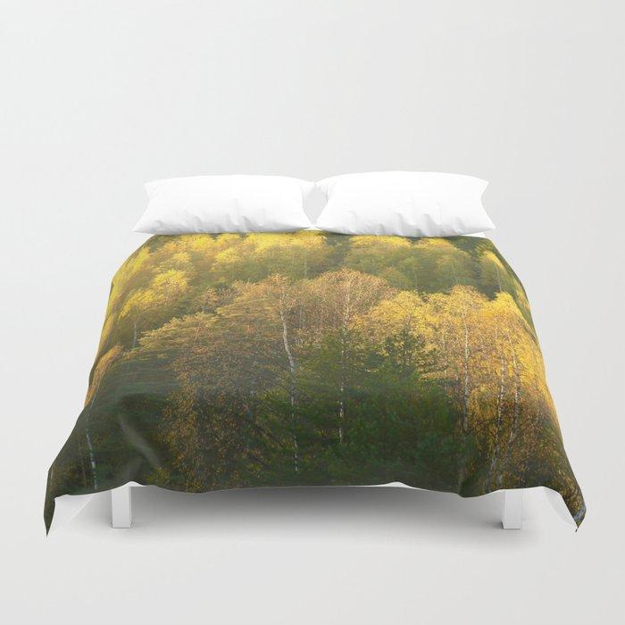 Forest In Sunset Tones  Duvet Cover